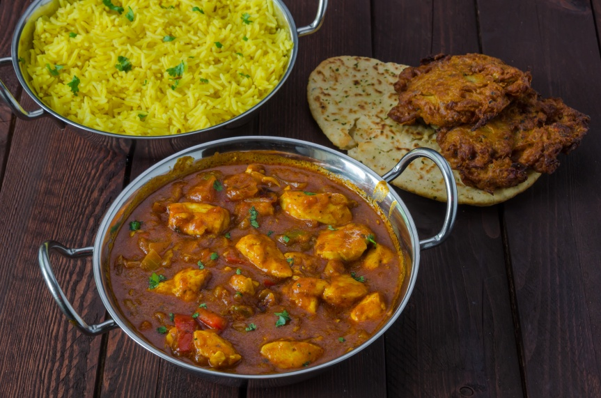 indian food chicker curry